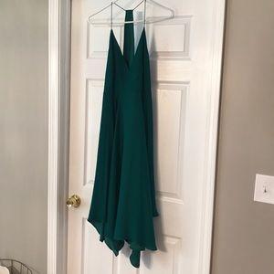 NWT Green low cut/low back dress